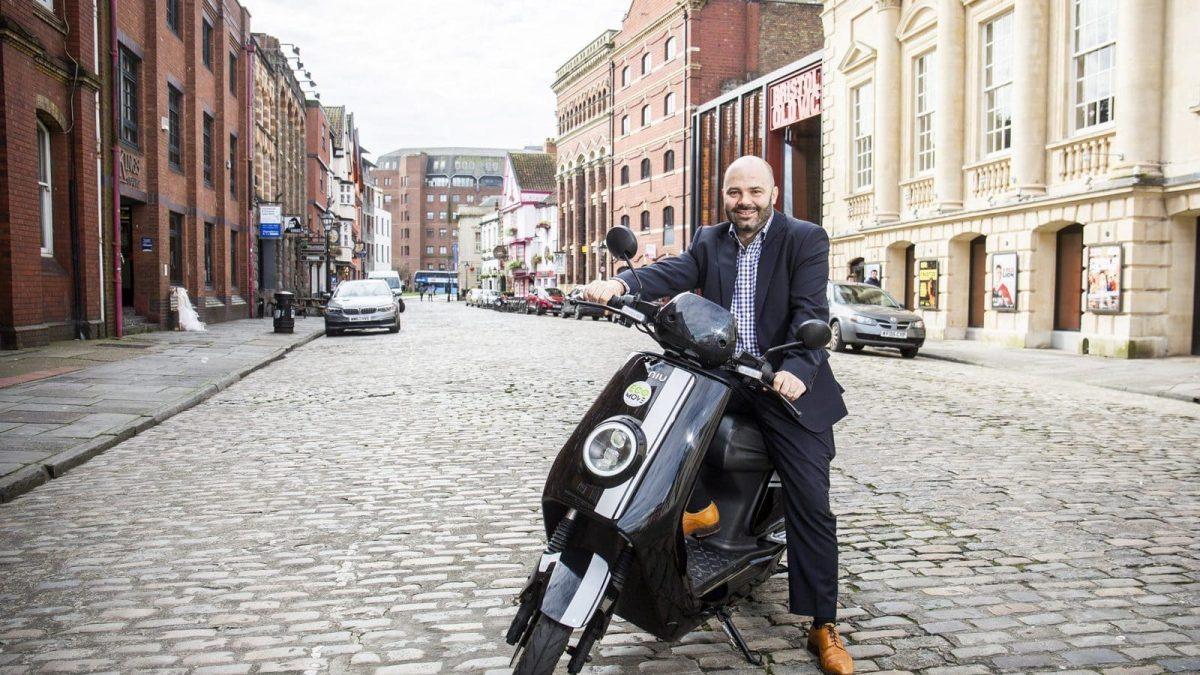Niu Scooter Bristol Street Corporate Commuting