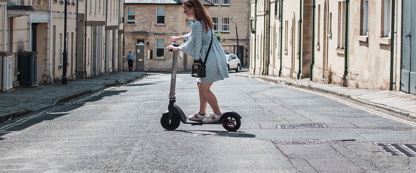 kiq electric scooter in street