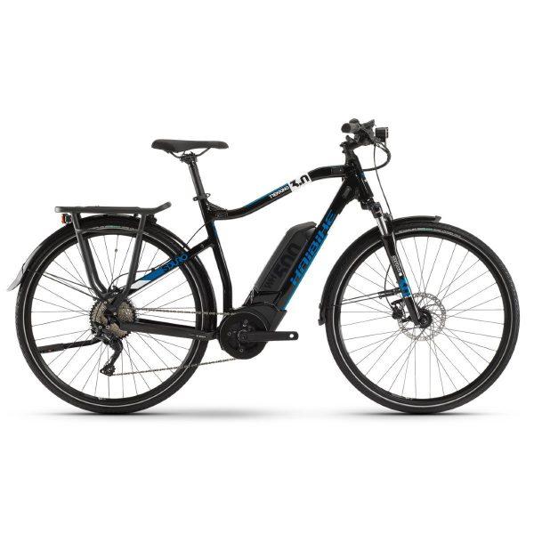 haibike sduro trekking 3.0 2020 electric hybrid bike black blue ecomove