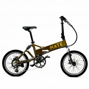 MATE City Electric Bike GOLDEN OLIVE foldable bicycle