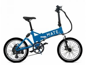 mate city electric bike blue