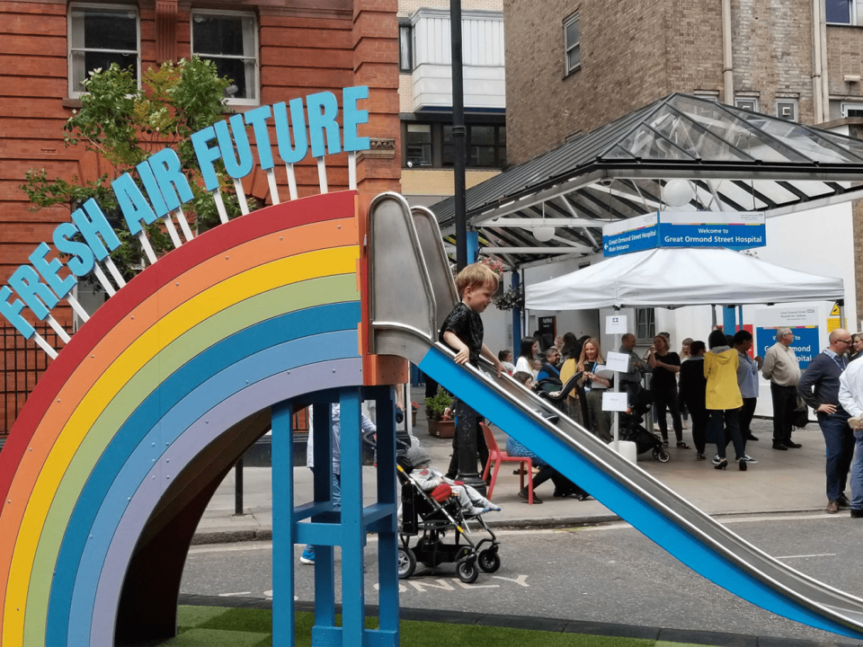 Gosh Rainbow Slide On Clean Air Day