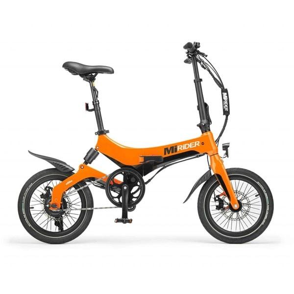 Mirider Orange Foldable E Bike