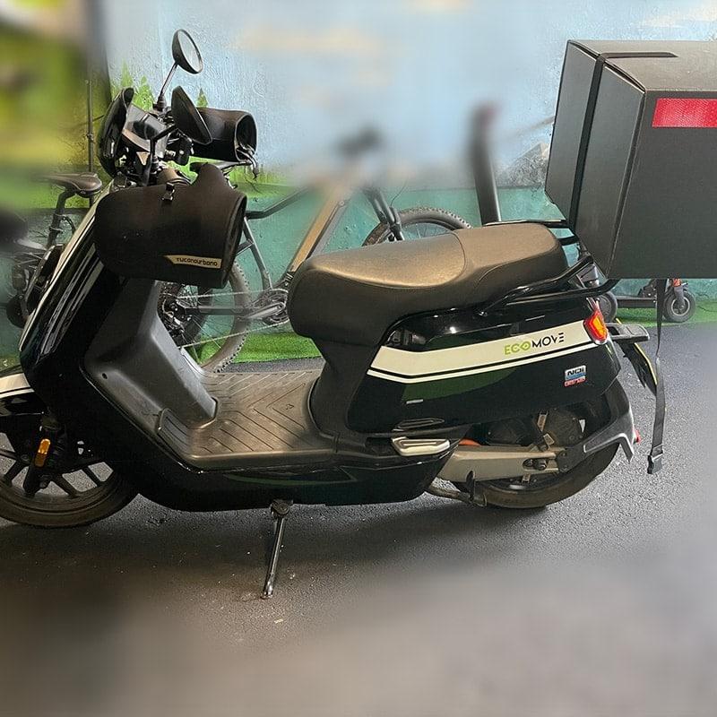 Niu Used Moped Black Side Profile