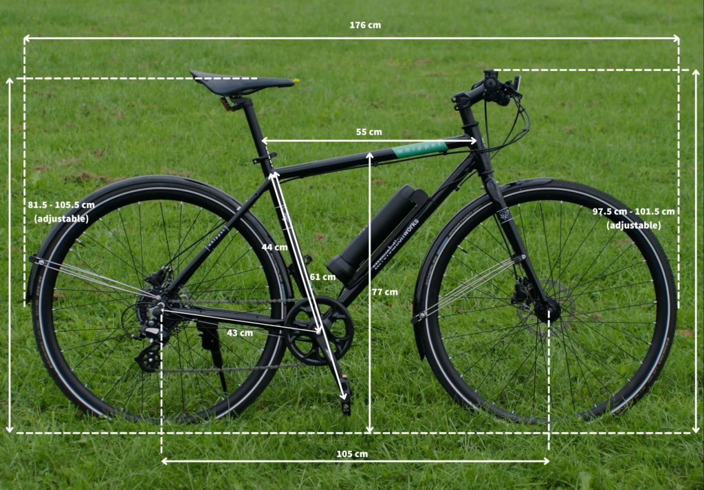 Whippet Electric Ebike Size Guide